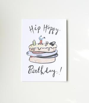 Hip hoppy birthday card emily catherine illustration hip hoppy birthday card bookmarktalkfo Images