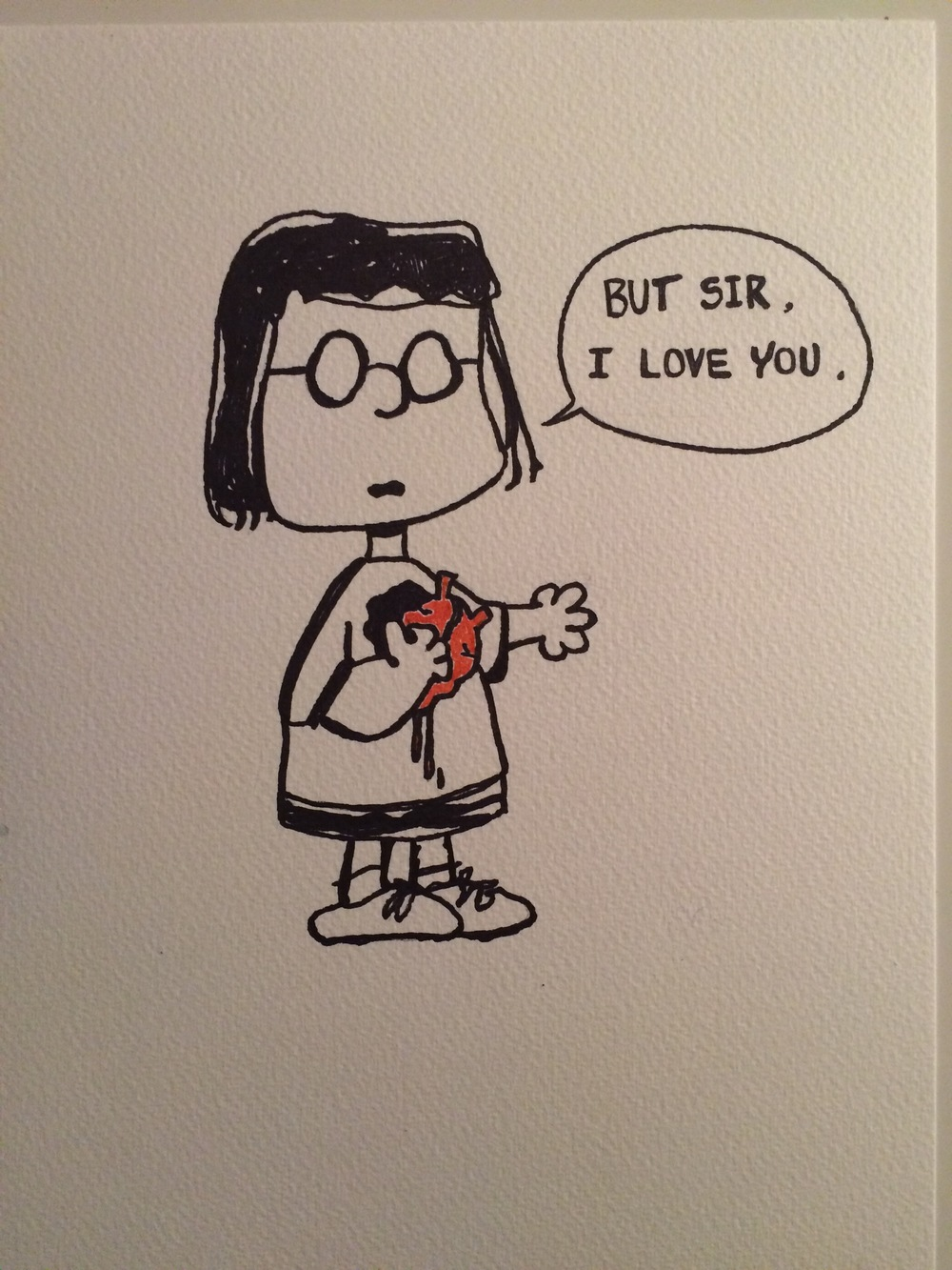 Marcie the queen of unrequited love. Emily Catherine Illustration.