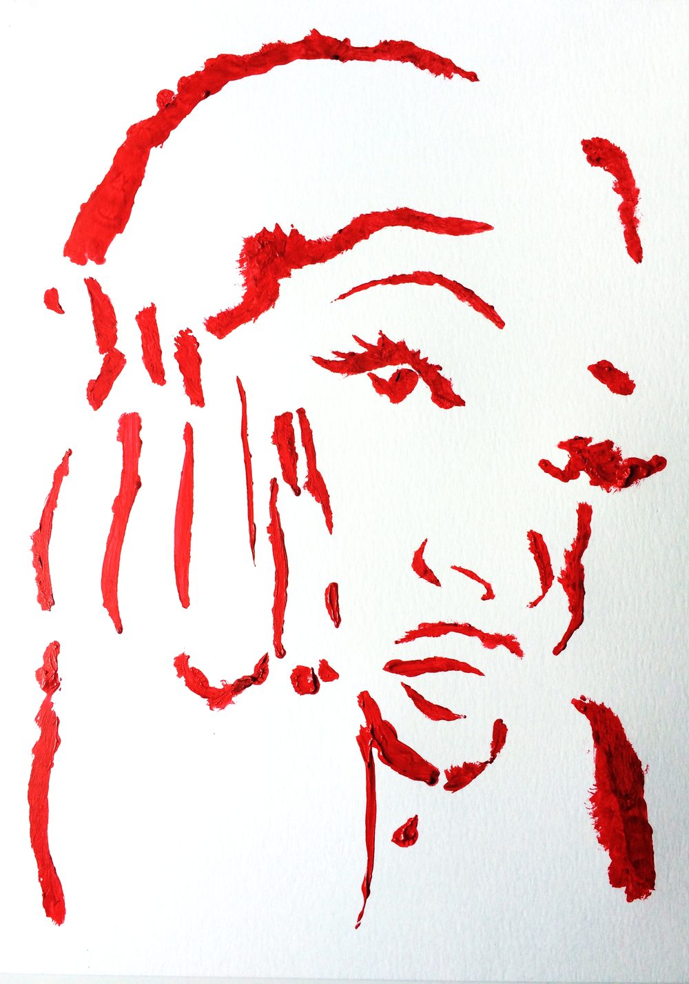I found a stencil of Missy Elliott I cut in secondary school and tried to see if it would still work.... it sort of didn't but I'm shocked at the mildly accurate results!