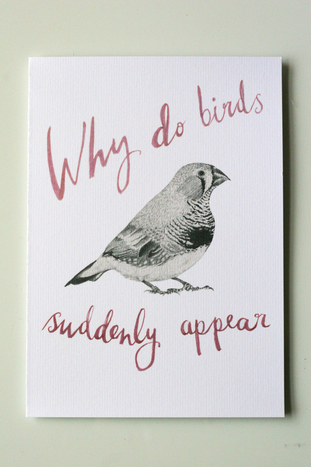 'WHY DO BIRDS'  A5 Valentines Card £3.50 available in Shop> Cards