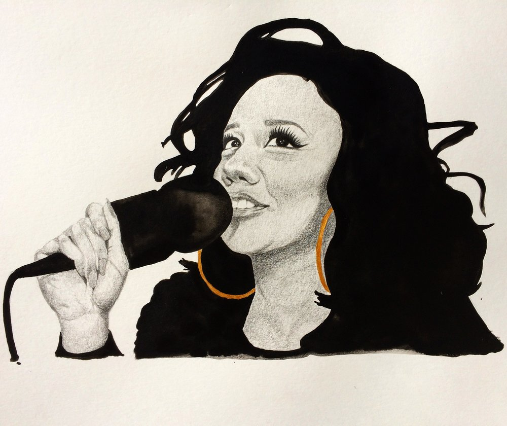 NoLay 350gsm paper. Pencil and Watercolour and acrylic copper for International Women's Day 2017