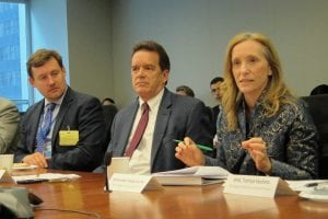 US Ambassador to ECOSOC Kelley Currie gives remarks at breakfast roundtable on business innovation for the SDGs