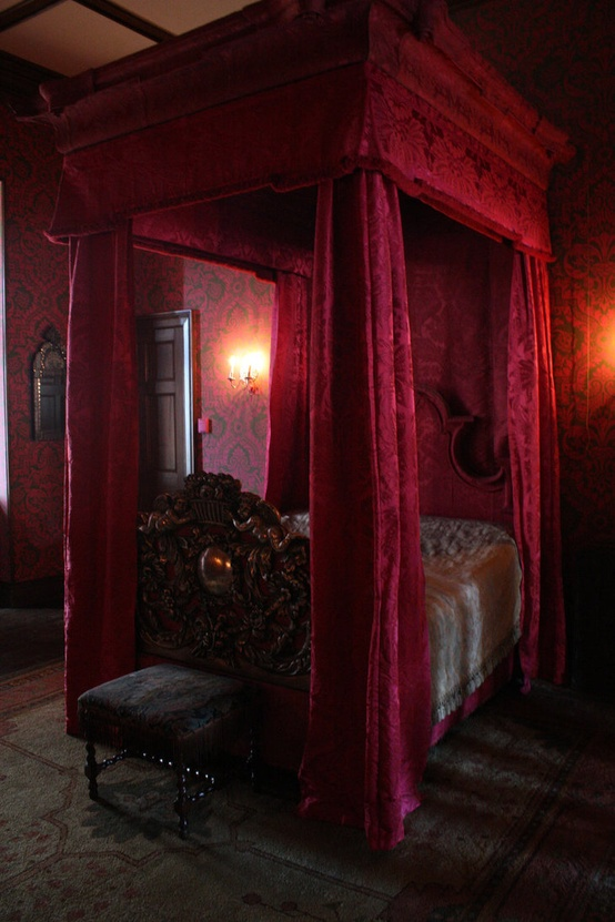 Red Gothic Bedroom