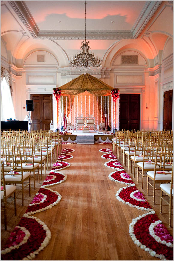 From: The stylish south asian Gold and wine or burgundy wedding decor