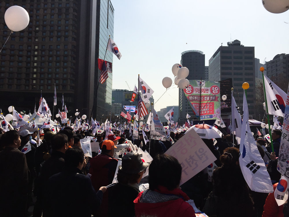 Protests against the impeachment of  Former President Park