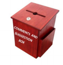 COMMENT AND SUGGESTION BOX