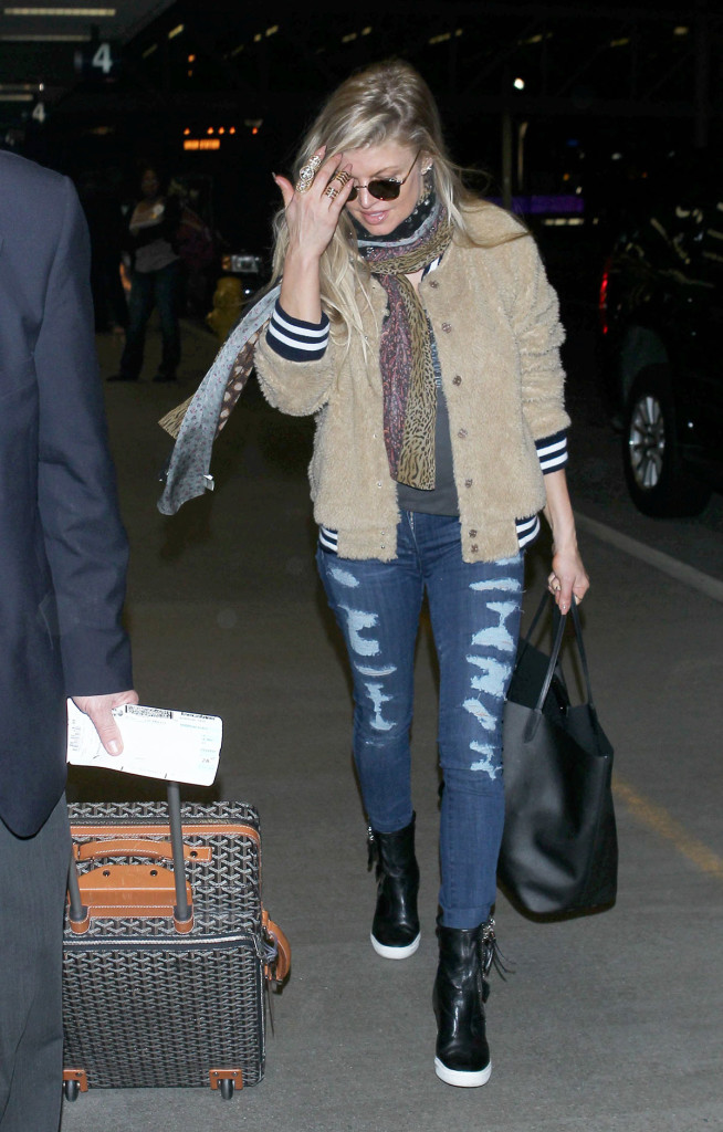 STACY FERGIE FERGUSON at LAX Airport