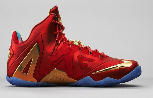 Nike-LeBron-11-Elite-Red-Gold-5