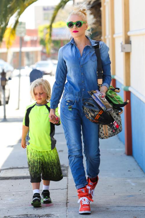 Gwen Stefani is a Fashionable Mom in Glendale