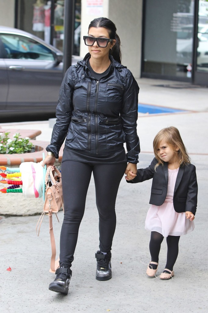 Kourtney and dughter Penelope come to watch North West at ballet