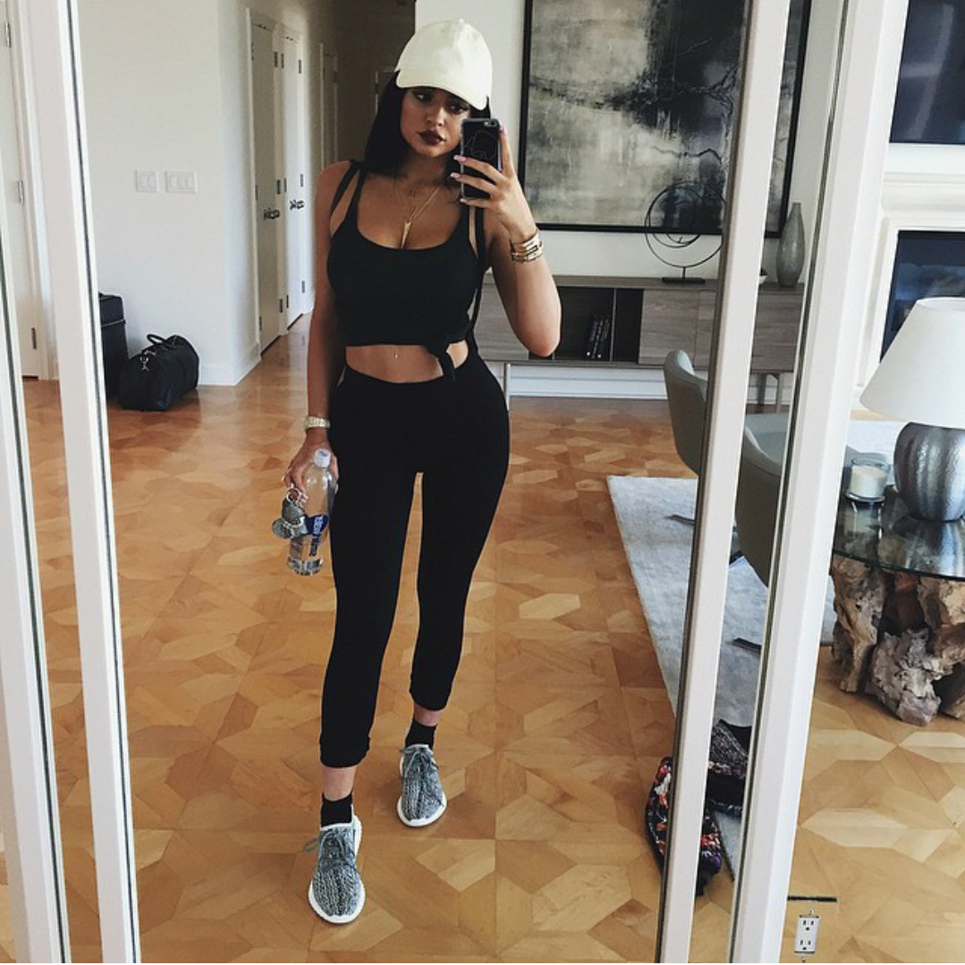 factory price 22c7b e763a Kylie Jenner kept her mirror selfie game tight and showed off those new  adidas Yeezy Boost 350s. She must have a plug  ).