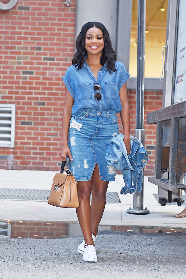 Gabrielle Union seen leaving the 'Milk Studios' in the Meatpacking district, NYC