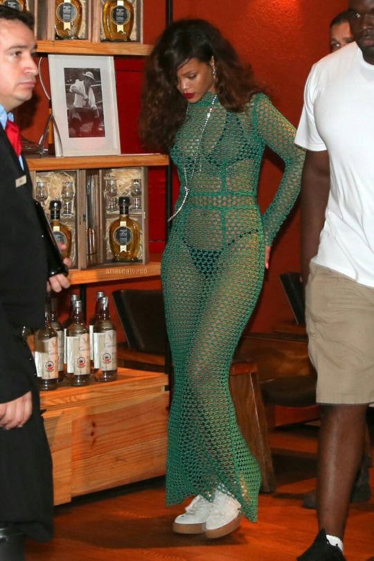 Rihannas-Rio-De-Janeiro-Rockin-Rio-Concert-LaQuan-Smith-Spring-2016-Italian-Braided-Embroidered-Cleopatra-Maxi-Dress-in-Money-Green-