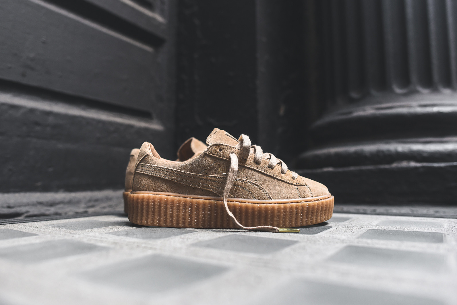 a6cf45490acb SneakHER Style  Rihanna Pairs Puma Creepers With a LaQuan Smith See ...