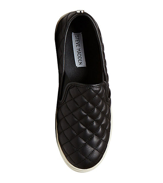Steven Madden Quilted Slip On Steve Madden Ecentric Quilted Slip-On, $59.95, available at  Bare Necessities