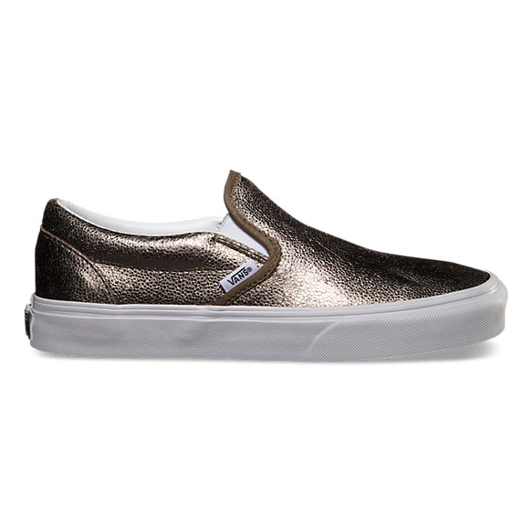 Classic Metallic Slip-On in Bronze, $60.00, available at  Vans