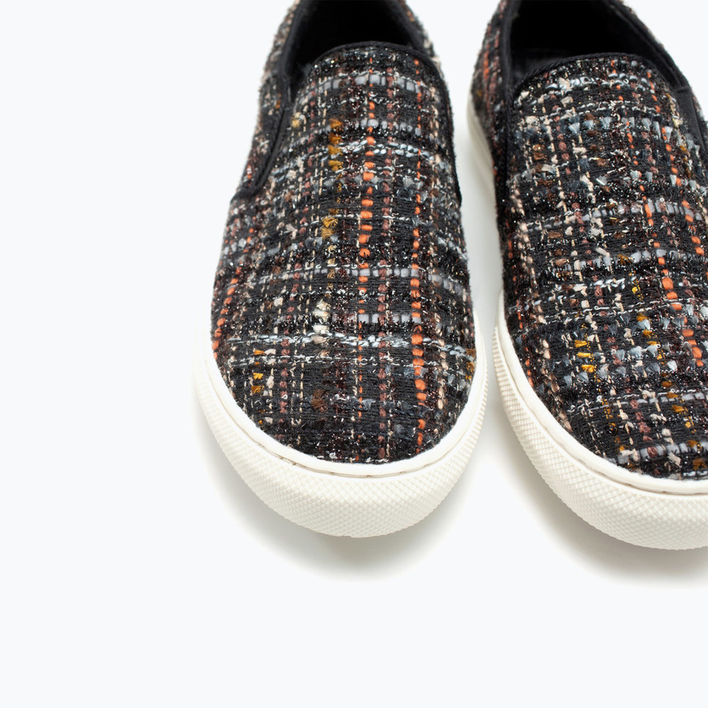 Fabric Plimsoll, $79.90, available at  Zara