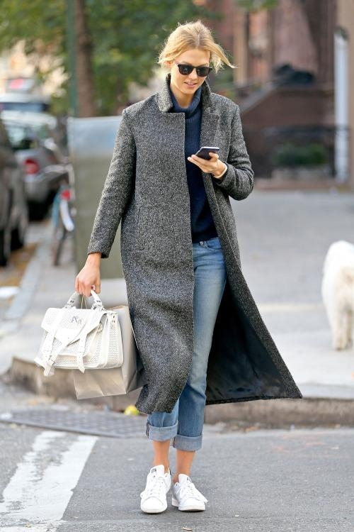 Karlie Kloss made her way through NYC wearing adidas Originals Stan Smith Sneakers.