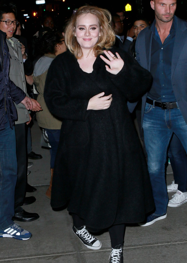 Adele in Converse Chuck Taylor Classics