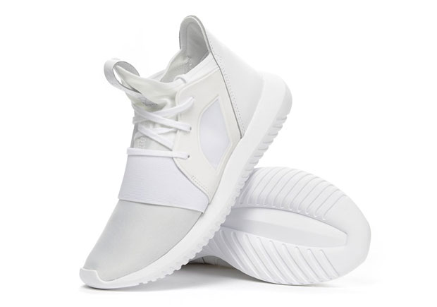 online store f0fd8 663e5 The adidas Tubular Defiant, which has been seen in seen all-red and  all-black, is now arriving in the best (IMPO) colorway  white-on-white.