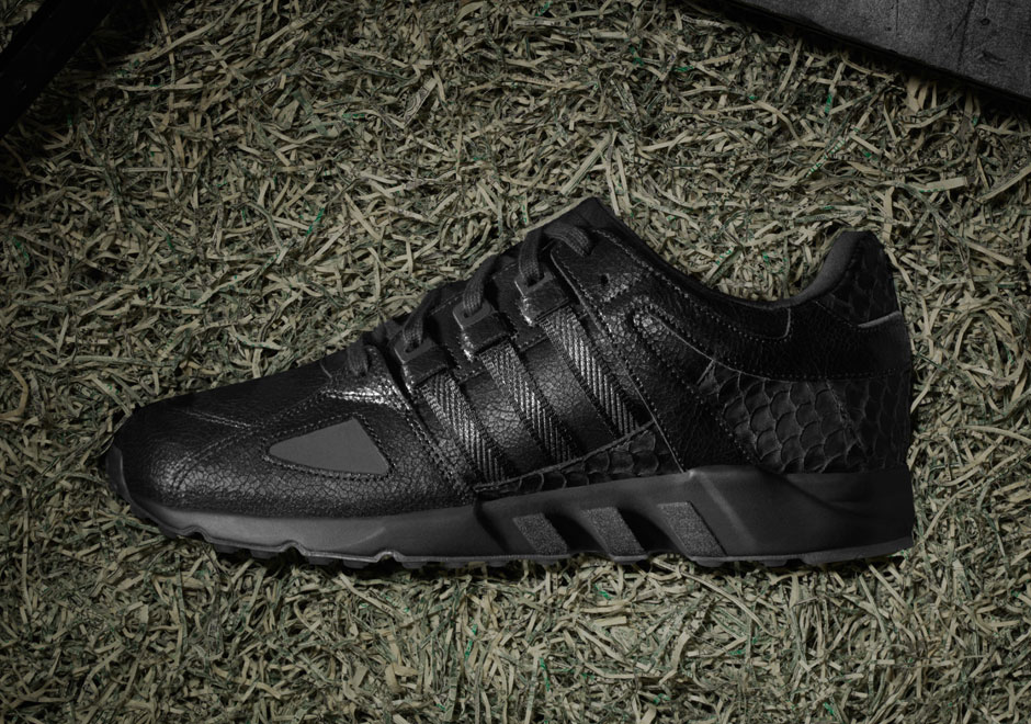 "PUSHA T X ADIDAS ORIGINALS EQT RUNNING GUIDANCE '93 ""BLACK MARKET"" Release Date: November 27th, 2015 Price: $200"