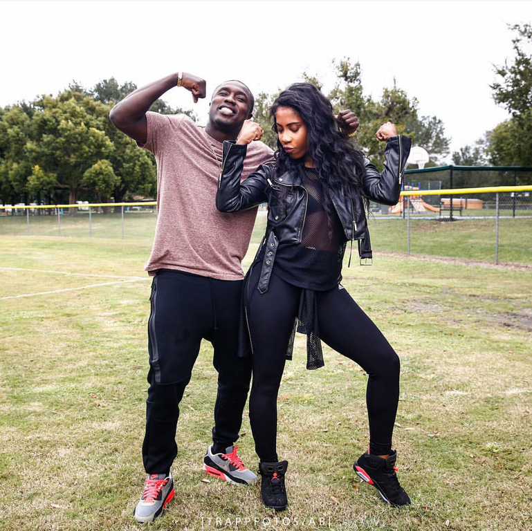 Sevyn Streeter hit us with that flex in Air Jordan 6 Retro 'Infrared'