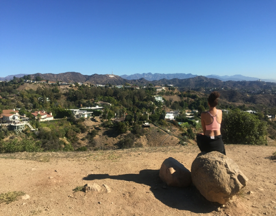 The Hills: Taking in the scenery at Runyon Canyon after an amazing hike.
