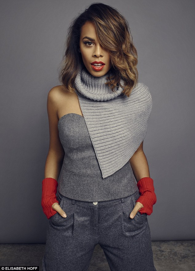 Rochelle wears SNOOD, Stella McCartney. BUSTIER, Pedro del Hierro. TROUSERS, Toast. HANDWARMERS, Johnstons of Elgin