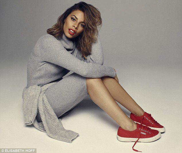 Rochelle wears DRESS, Helmut Lang, from Net-a-Porter. JUMPER, Eileen Fisher. TRAINERS, Superga