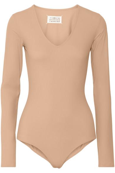 Maison Martin Margiela Nude Stretch Jersey Bodysuit - Buy Now