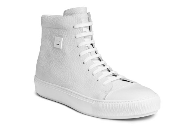 Acne Studios Adrian High FG White Sneakers - Buy Now