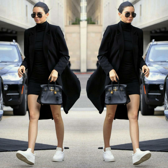 Kendall Jenner was a woman after our sneaker style hearts in Celine slip-ons.