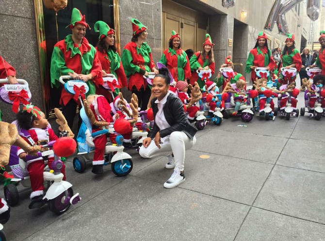 Last, but not least,  Christina Milian spent some QT with the tots this weekend in NYC wearing Balenciaga high tops.