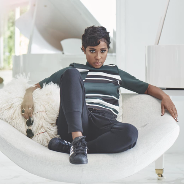 premium selection 709c1 90e23 DeJ Loaf in the adidas Superstar Black White