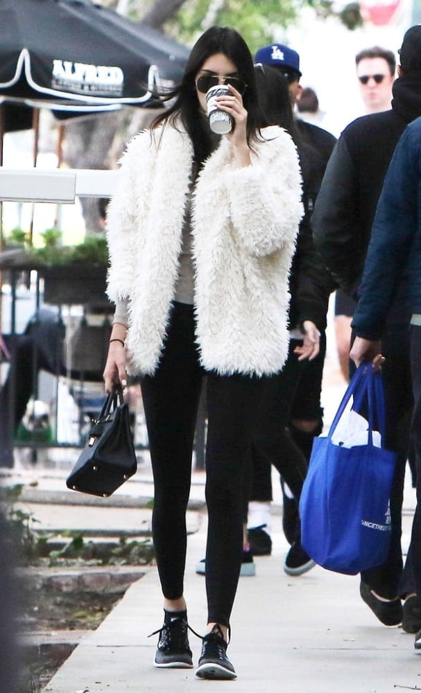 Kendall Jenner kept a low profile in Los Angeles in NikeFlyknits.