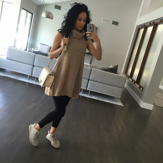 Draya Michele and her baby bump stepped out in  adidas  Yeezy Boost 350s.
