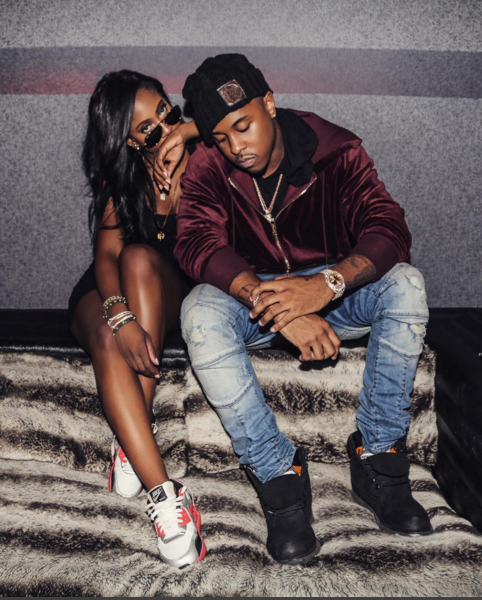 Sevyn Streeter hit the stu with some good company in her  Air Max  90's.  Hiiiii Sevyn.