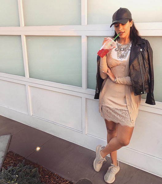 Julissa Bermudez makes her CNK debut with some passion fruit and a little help from her  YeezyBoost  350s.
