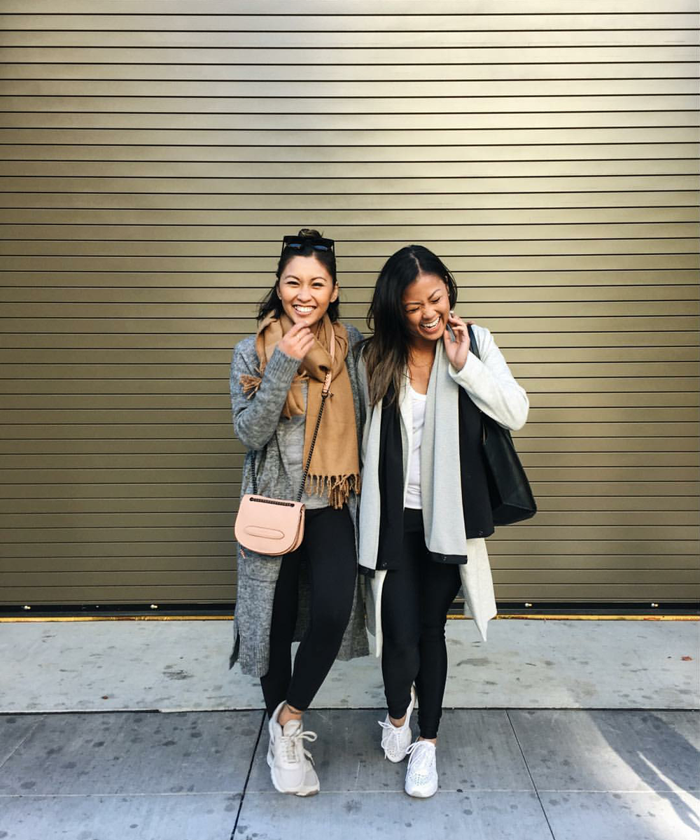 #ChicksNKicks Chicks Of The Day: @gofitjo x @mystyleandgrace in Nike Women Air Pegasus 83 PRM QLT in Grey/Bronze (left) and Nike Air Max Thea 'Joli' in White.
