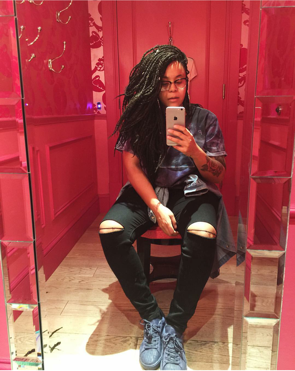 #ChicksNKicks Chick Of The Day: @callmecourt in Puma x Solange 'Word To The Woman'  Suede Classic Square