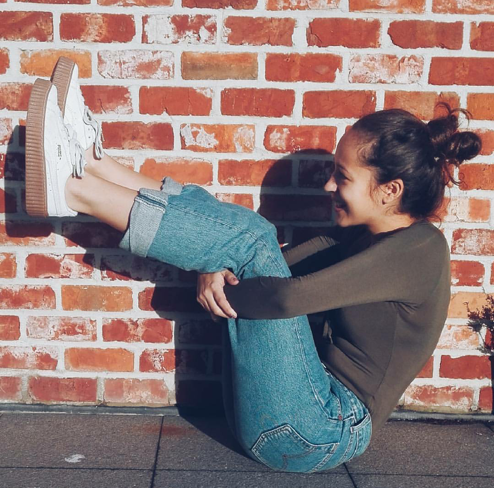 #ChicksNKicks Chick Of The Day: @emiliegharbi in Fenty x Puma Creepers