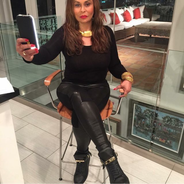 Ms. Tina Knowles-Lawson showed ys where Beyonce gets her slay  in a fresh pair of Buscemi high top sneaks.  Work Ms. Tina!!!