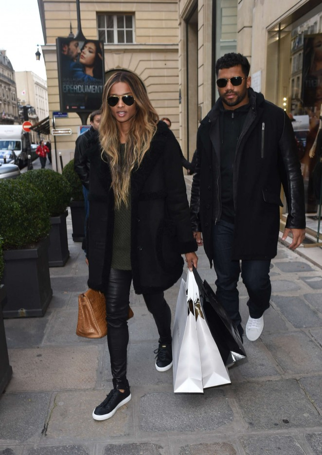 Ciara showed some love to Paris' shopping district as she (along with beau Russell Wilson) stepped out fly in Buscemi Sneakers.