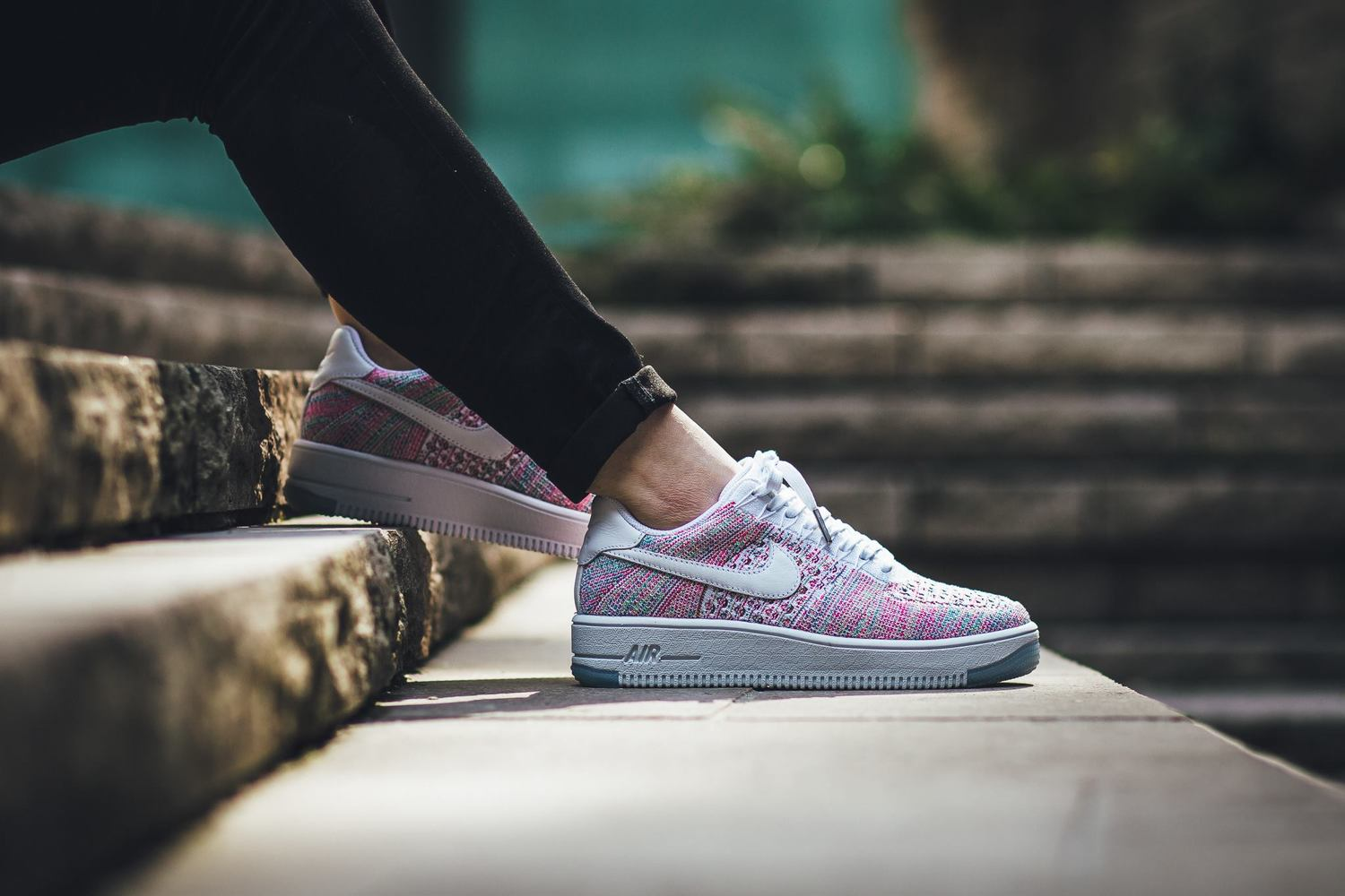 For The Ladies  Nike WMNS Air Force 1 Flyknit Low  Hyper Turquoise ... f5845b79a