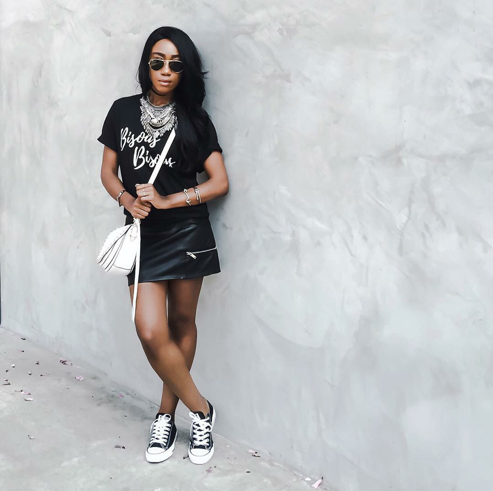 #ChicksNKicks Chick Of The Day: @lovecoutureLA x Converse Chuck Taylor Classics - Photo: @imphoreals