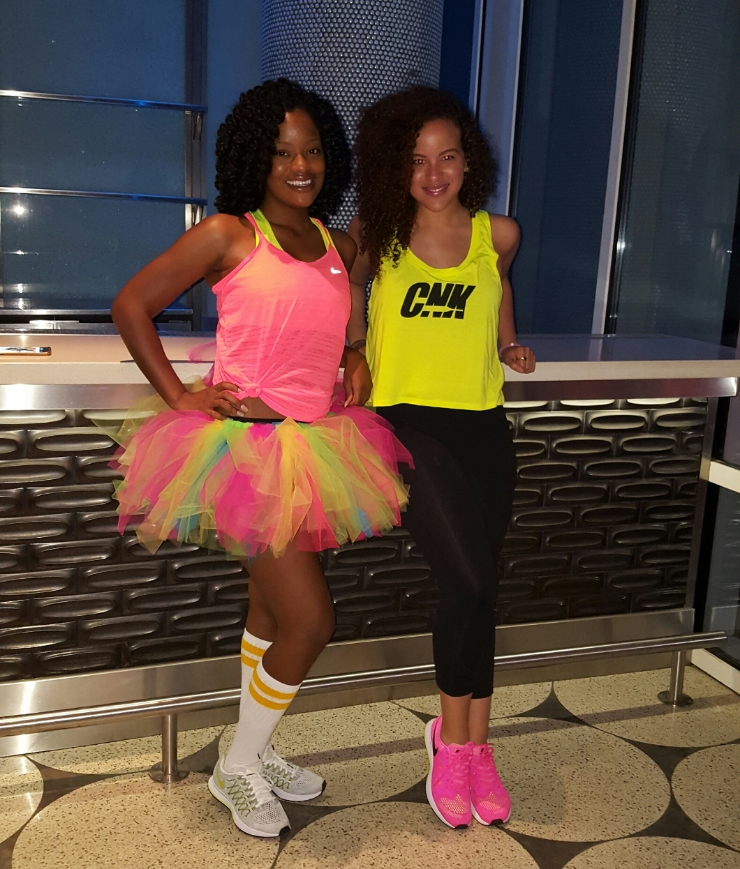 Britt (left) and Chan (right). We're your #FitChicks!!!! Hey guys!