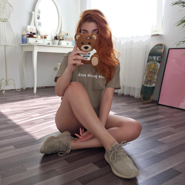 #ChicksNKicks Chick Of The Day: @edavendetta x adidas Yeezy Boost 350 'Oxford Tan.'