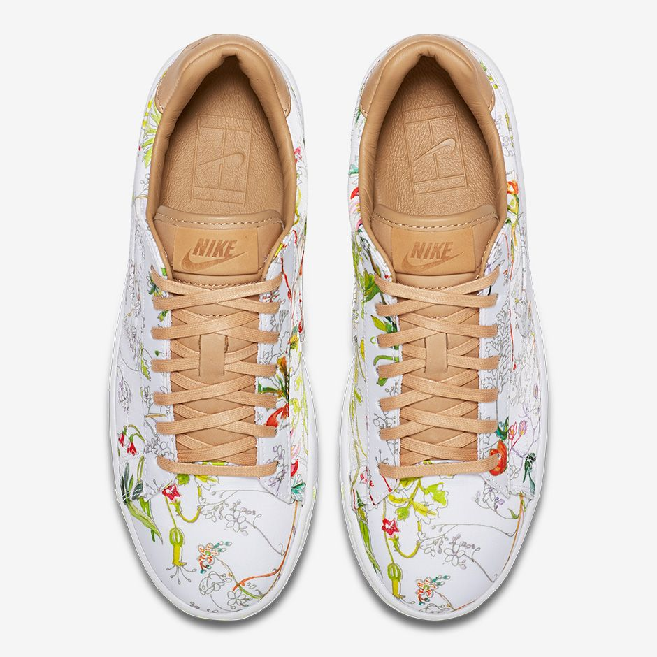 Nike Liberty Tennis Classic Ultra Leather: $130 USD White/Vachetta Tan/Volt/White 745982-101