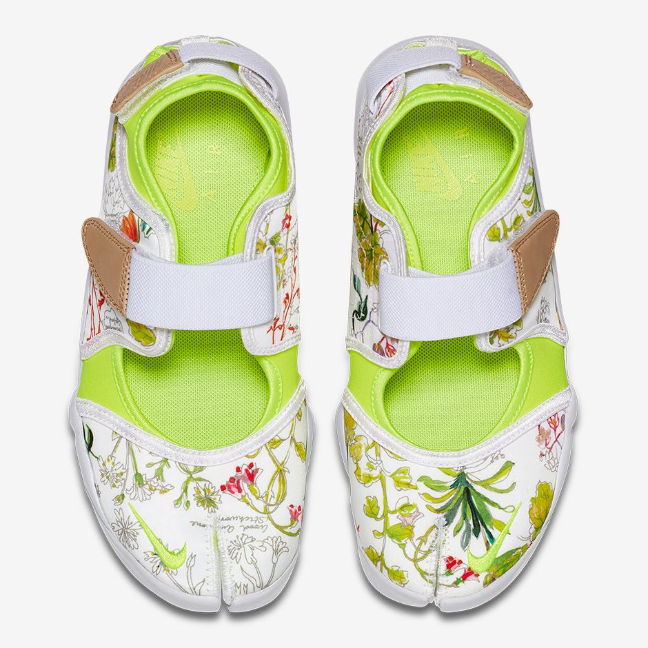 Nike Air Rift Liberty: $120 USD White/Vachetta Tan/Volt 848476-101
