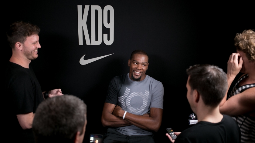Media Day: a few laughs with KD on Day 1 of our KD9 Launch Experience - Photo: CNKDaily